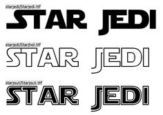 free (non commercial) star wars font