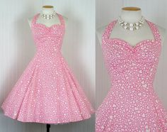 Vintage reproduction heart dress - 50's era