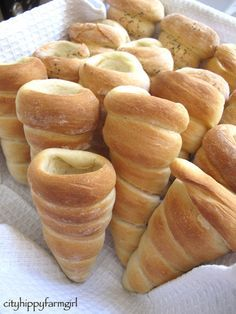 Bread cones... fill with whatever you like!