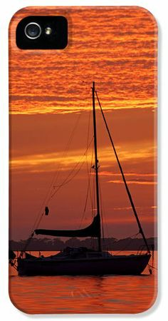 Sailboat at Sunset iPhone 5 Case / iPhone 5 Cover for Sale by Daniel Woodrum