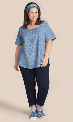 d5d495b233e KIT SHIRT   MiB Plus Size Fashion for Women   4th of July   Patriotic