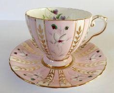 Beautiful Pink Royal Grafton Tea cup and Saucer