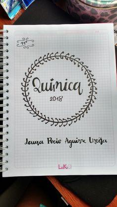 Portadas Study Inspiration, Journal Inspiration, Notebook Art, School Notebooks, Cute Notes, Lettering Tutorial, Decorate Notebook, School Notes, Study Notes