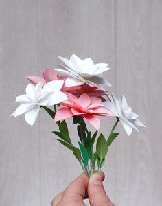 fleur papier diy