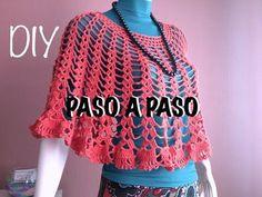 How to #Crochet Womens Easy Poncho Shawl #TUTORIAL #257 - YouTube