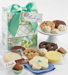 NEW! Our bundle of sweet treats is a delicious way to say thank you to friends, family and business associates. We've included buttercream frosted cookies, snack size cookies and brownies, deluxe gourmet pretzels, and sweet and salty pretzel clusters. 14 pieces. Thank You Cookies, Cut Out Cookies, Cookie Frosting, Buttercream Frosting, Fudge Brownies, Sweet And Salty, Thank You Gifts, Thoughtful Gifts, Gourmet