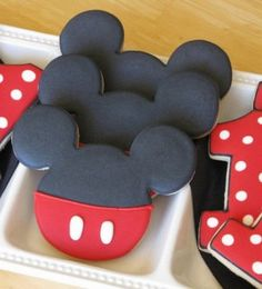 Mickey Mouse Cookies. A must for Rubys next birthday