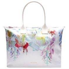 Buy Ted Baker Hanging Gardens Large Tote Bag, Pink Online at johnlewis.com