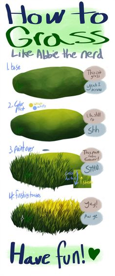 My Grand Grass Guide by alridpath. on My Grand Grass Guide by alridpath. Digital Painting Tutorials, Digital Art Tutorial, Art Tutorials, Drawing Tutorials, Drawing Techniques, Drawing Tips, Painting & Drawing, Painting Grass, Acrylic Painting Techniques