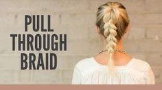 braid tutorial for short hair - YouTube