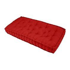 FINLANDEK Matelas de sol banquette Jämsä 100 % coton, rouge, 60x120x15 cm: Matelas coussin de sol format banquette, 100 % coton, rouge. Il…