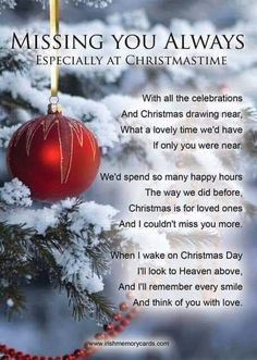 Thinking of you both and wishing you were here with me. Merry Christmas Mom and Dad I love you always! Merry Christmas In Heaven, Christmas Poems, Christmas Humor, Heaven Poems, Heaven Quotes, Letter From Heaven, I Miss My Mom, I Miss My Daughter, Grief Poems