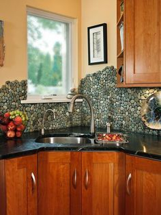 AuBergewohnlich River Rock Kitchen Backsplash   13 Beautiful Backsplash Ideas To Add  Character To Your Kitchen