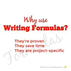 Why use writing formulas? They work. And they let you be creative. Word Wise at Nonprofit Copywriter