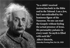 Could it be? Was Einstein a Messianic Jew?