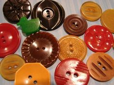 Wonderful Lot Old Vintage Bakelite Casein Colorful Fancy Buttons Crib Toy Dolls | eBay