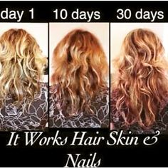 Looking to have longer and healthier hair and nails along with beautiful skin? Look no further. Try It Works hair, skin and nails.