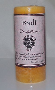 POOF Banishing MOJO Candle Coventry Creations Wicked Witch Wicca Pagan Magick