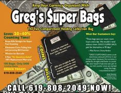Below you will find MONEY BAG SUPPLIERS listed in alphabetical order by company name. Please contact these money deposit bag suppliers directly for more information about their money bag products. Also See: Vending Supplies, Money Handling Supplies, Keys Locks, Coin Counters & Sort