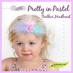 DIY with Feathers from The Feather Place. Pretty in Pastel Feather Headband