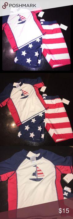 Kids Swim set New with tags! Shirt and shorts! Swim Swim Trunks