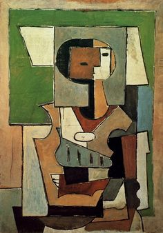"Pablo Picasso - ""Composition with character [Woman with arms crossed]"". 1920"