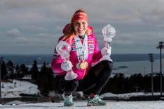 Gabi wins 2. globe in mass start, Oslo march 20 2017.
