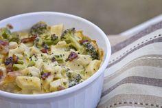 Chicken Broccoli Bacon Daikon Casserole - Low carb - include nutritional information.