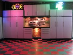 Man-Cave Garage, with a Mustang theme...
