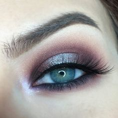 Pat White Lies under the brow bone. Blend Petal Pusher into the crease. Pat Cherry Cola onto the inner and outer corner of the eyelid, then blend into the