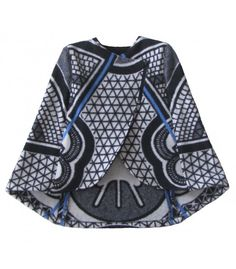 The White Kobo Long Cape is made of White and Black Wool Blanket with a Blue line. The cape is sculpted to sit on the shoulders. The cape is designed to form a single structured shape to cover the entire torso. Sotho Traditional Dresses, African Traditional Dresses, Traditional Wedding Dresses, Traditional Outfits, African Attire, African Wear, African Dress Patterns, African Print Fashion, African Prints