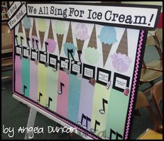 Primary song motivation board...I can't wait to borrow this idea.  I am thinking that the children will love to have me serving them in my Chorister Soda Shop all the toppings that they earned!  LOVE IT!