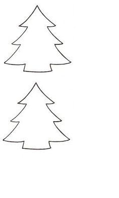 kerstboom sjabloon