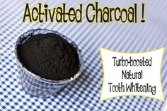 activated charcoal to whiten teeth!  In fact it has been used for ages but now you don't see much charcoal toothpaste and mouthwash on the shelf. Can be made as a paste or mixed with water as a rinse. I will be trying this!