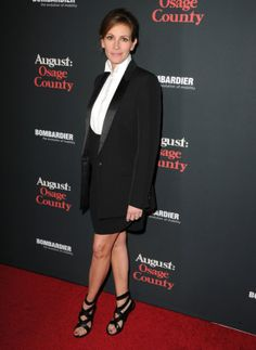 Julia Roberts borrowed from the boys at the premiere of August: Osage County. See what other celebs made our best dressed list by clicking the picture!