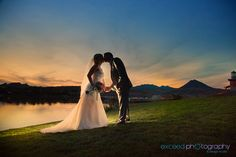 Las Vegas Event and Wedding Photographer - Exceed Photography - Lake Las Vegas, bride and Groom photos by the lake