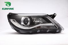 239.40$  Watch now - http://aifkg.worlditems.win/all/product.php?id=32798867017 - Pair Of Car Headlight Assembly For VW TIGUAN 2010-UP Tuning Headlight Lamp Parts Angel eyes Daytime Running Light Bi Xenon Lens