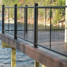 The Fortress Vertical Cable Railing System is easy to assemble and preserves your view. #cablerailing #cablerails #bestrailing