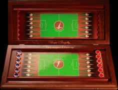 Backgammon with a football field on the game board Backgammon