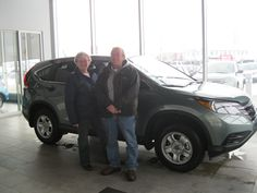 Congratulations Larry & Evelyn on the purchase of your 2013 CRV LX! Happy Driving folks!