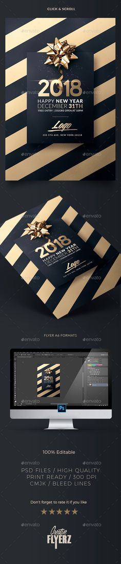 New Year | Invitation Template - Print Templates