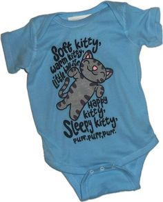 Amazon.com: Soft Kitty -- Light Blue -- The Big Bang Theory Infant Onesie Snapsuit, 18 Months: Clothing