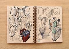 Sketchbook - 2014 on Behance Volume Art, Beautiful Sketches, Cool Sketches, Drawing Sketches, Sketching, Industrial Design Sketch, Interior Sketch, Croquis, Art Sketchbook