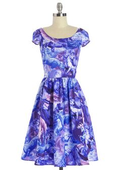 Hooved on a Feeling Dress. Ever since you found this epic unicorn dress, youve been positively hooked on its moonlit faces! #purple #modcloth