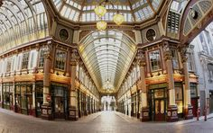 "Leadenhall Market stood in for Diagon Alley in ""Harry Potter and the Sorcerer's Stone."" Find more Harry Potter locations when you click the photo. (Photo by Eric Nathan/Visit Britain)"