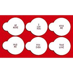 Valentine's Day Candy Heart Sayings Cookie Stencils, Small, Beige/Semi-Transparent Valentines Day Cookies, Cupcake Liners, Semi Transparent, No Bake Cookies, Cookie Cutters, Stencils, Beige, Candy, Baking