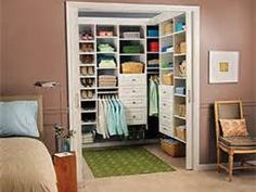 Efficient small walk-in closet designs - Bing Images