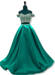 Long Elegant Prom Dress 2020 A-line Cap Sleeve Beaded Lace African Floor Length Emerald Green Two Piece Prom Dresses Prom Dresses Under 100, Prom Dresses Two Piece, Prom Dresses Long With Sleeves, Prom Dresses 2018, Gala Dresses, Backless Prom Dresses, One Piece Dress, Bridesmaid Dresses, Cheap Formal Gowns