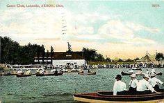 Akron Ohio OH 1909 Canoe Club Lakeside Collectible Antique Vintage Postcard