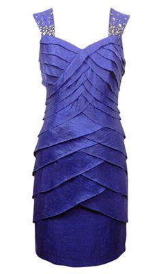 London Times Women's Sweetheart Neck Shutter Dress 10 Royal Blue Pretty #LondonTimes #Sheath #Cocktail